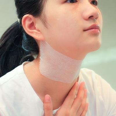 玛姬儿无纺布压缩颈膜100片 自制补水护理颈部紧致去颈纹干纸膜布