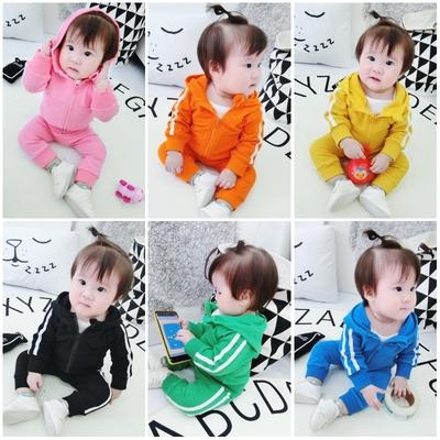 洋气 婴儿衣服套装宝宝秋装小女童运动女宝秋季儿童孩子的两件套