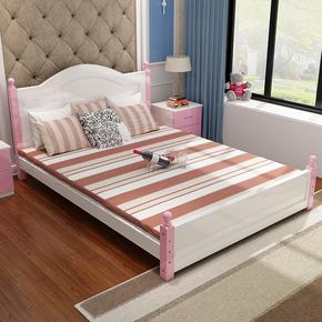 主卧室床1.8米公主床欧式女孩粉红色双人床单人床成人小户型1.2米