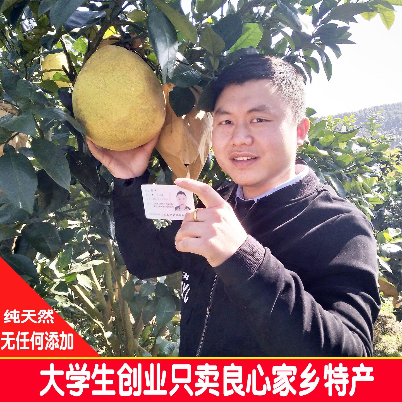 【十一月发货】江西广丰特产马家柚红心柚红肉柚一箱2个装7斤左右