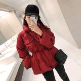 羽绒棉衣外套女冬季2019新款韩版小个子短款宽松洋气外套收腰棉服