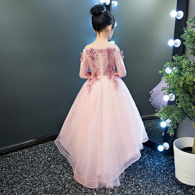 儿童礼服公主裙女童走秀蓬蓬裙2018新款花童婚纱主持人钢琴演出服