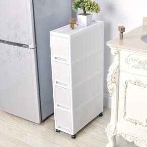 夹缝置物架厨房冰箱旁18CM宽缝隙储物柜卫生间可移动夹缝收纳柜