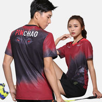 Badminton clothing suit men's custom spring and summer table tennis sportswear quick-drying short-sleeved badminton clothes women's printing