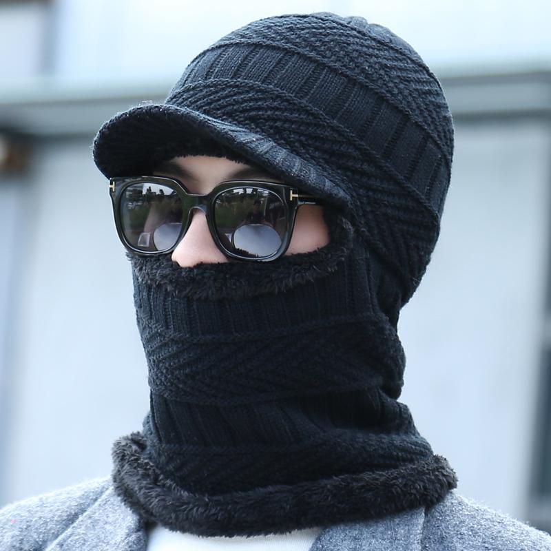 毛线帽子男女冬天针织套头