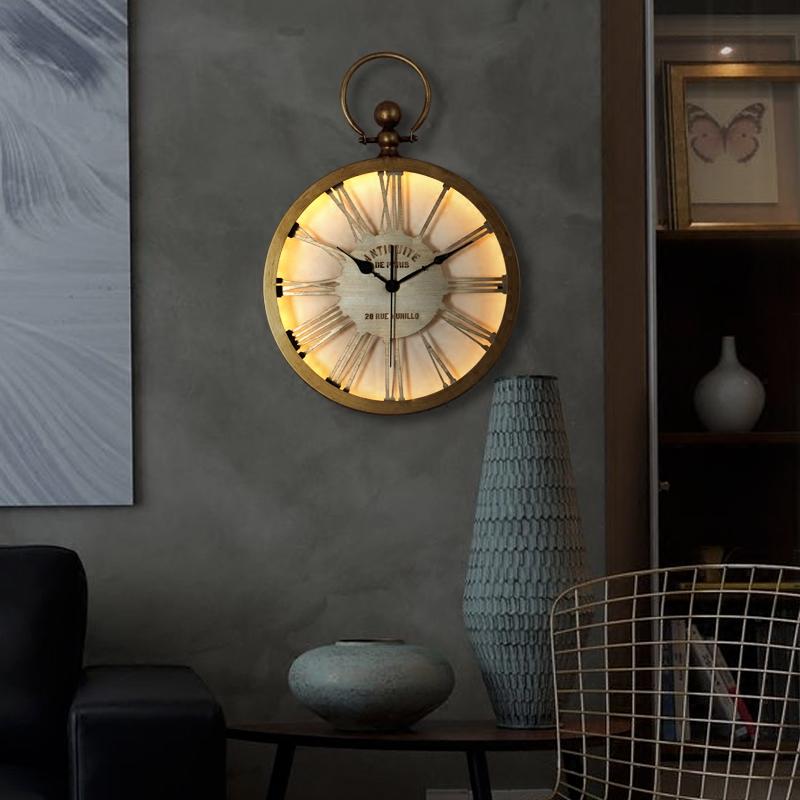 钟表挂钟客厅创意美式乡村