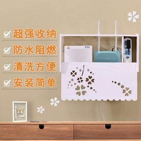 wife家用無線路由器收納盒壁掛免打孔置物網線遮擋箱