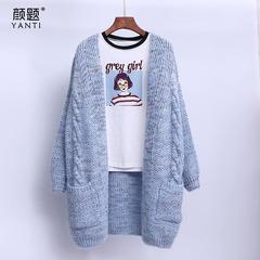 麻花针织开衫