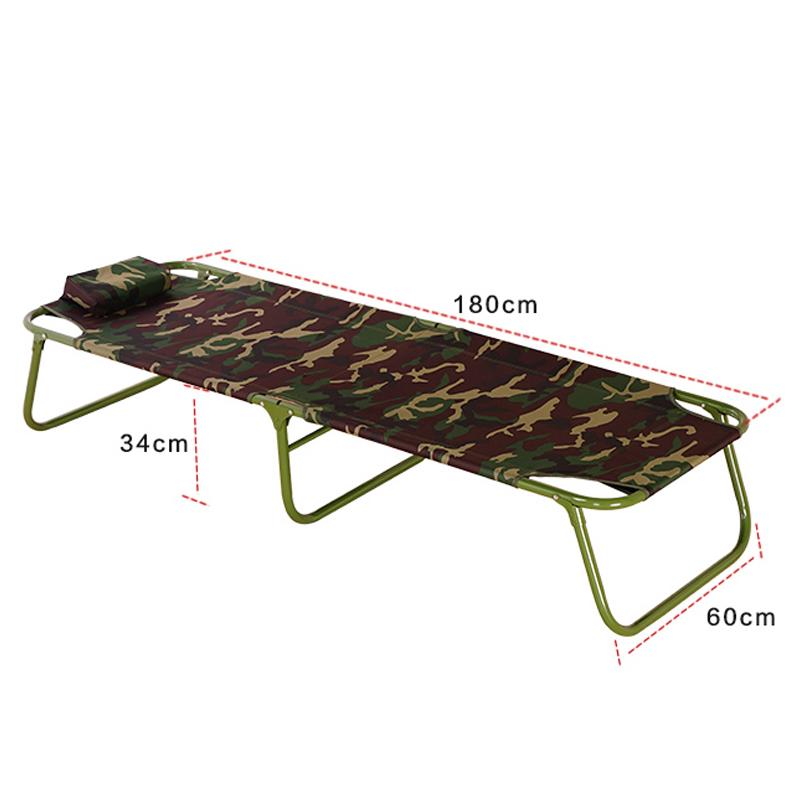 户外丛林数码迷彩折叠行军床床办公午休床 单人床  野战折叠床