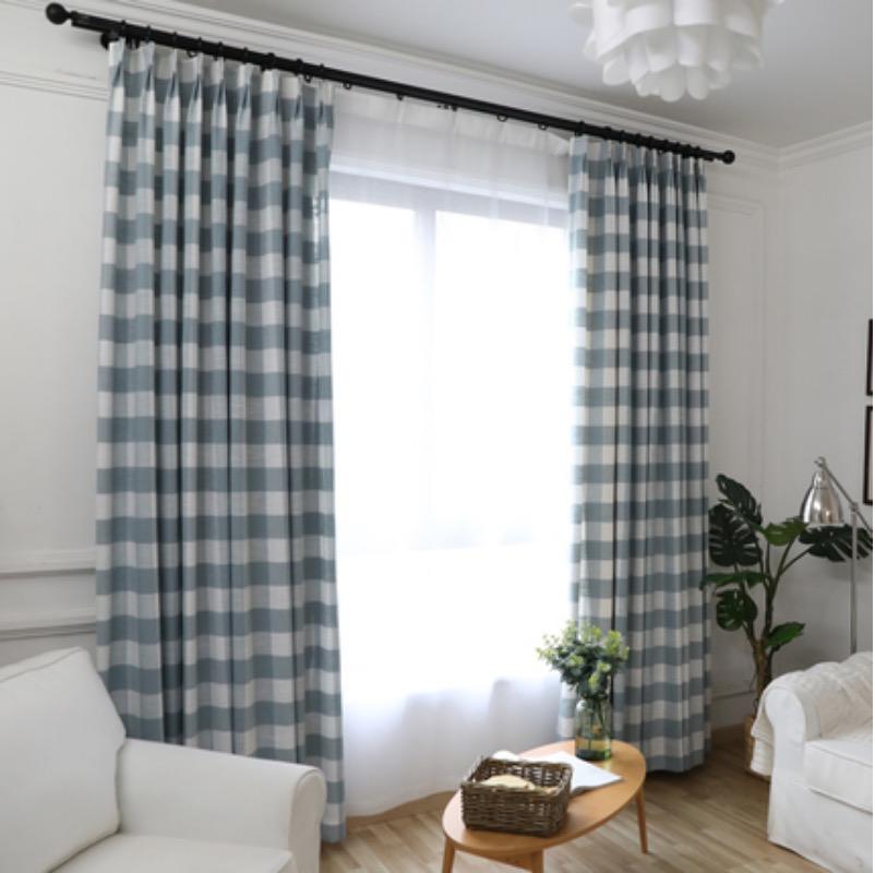 简约客厅窗帘现代韩式