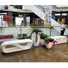 FRP shopping mall leisure chair cinema waiting for rest chair park outdoor square Japanese bench Meichen bench