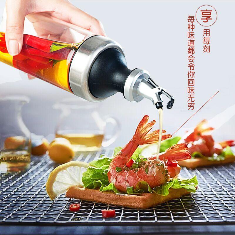 油壶玻璃防漏大号油瓶调味瓶酱油醋瓶小香油瓶厨房用品