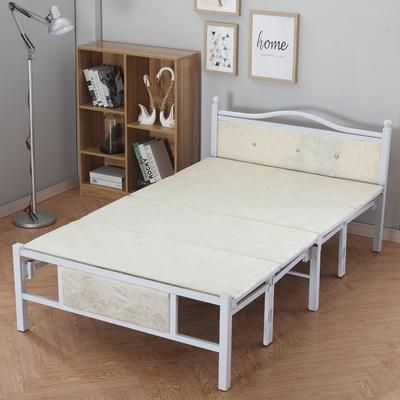 折叠床家用单人床木板床1.5米双人床办公室午休床简易床成人品牌旗舰店