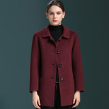 Middle-aged Albaka alpaca double-faced cashmere coat female short paragraph noble winter woolen coat mother dress