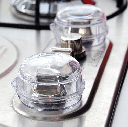 创意厨房儿童煤气灶开关半透明保护罩燃气灶旋钮防护罩2个