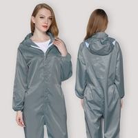 Dust-proof clothing protection dust-free one-piece anti-static clothes split painting industrial dust work hooded female men workshop