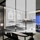 New Chinese ink classical mountain scenery gauze curtain partition screen Chinese painting shading office roller blind