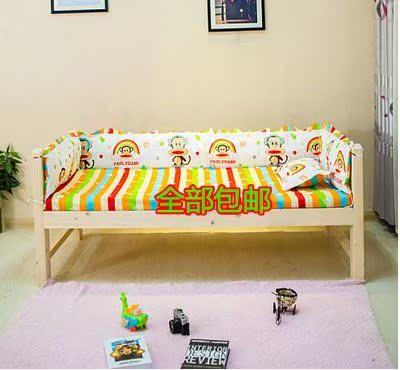 3面宝宝婴儿童床上用品/实木床帏/纯棉/全棉童床套件/床围帏