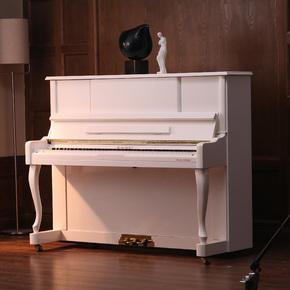全新凯美UP123专业实木家庭教学立式黑白色钢琴正品