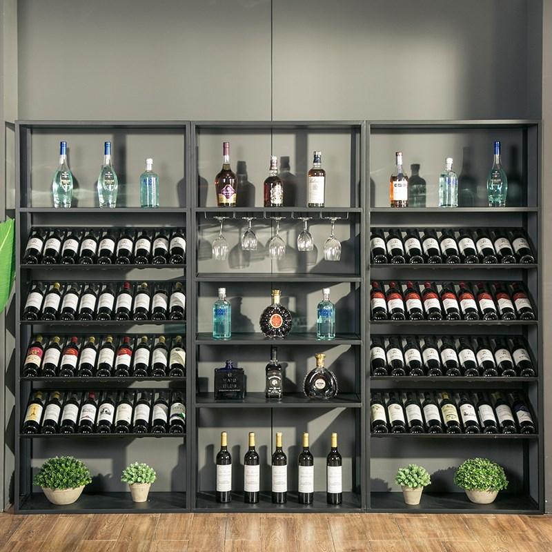 复古欧式铁艺酒架酒吧落地酒柜葡萄酒红酒收纳展示架置物架酒杯架