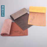 Haneda Kung Fu tea accessories special towel tea towel suction water thickened large tea mat long cotton towel tosupport