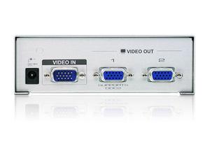 全新ATEN宏正VS92A KVM多电脑切换器 VGA视频分配器分频器 1进2出
