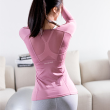 Beauty Back Fitness Clothes, Women's Long Sleeve Yoga Clothes, Spring and Autumn Fitness Gymnasium Exercise Outdoor Sports, Running T-shirt Quick Drying