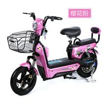 迷你双人48V电动车成人铅酸电池电动自行车电瓶车脚踏代步车包邮