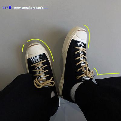 19春夏贝壳头男鞋日系文艺复古帆布鞋学生街头百搭潮流低帮鞋子男