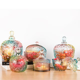 Glass candy can sugar tank creative ornaments snack tank storage tank living room tea table ornament crystal degaussing bowl