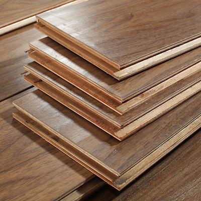 多层实木复合地板15mm 防水耐磨仿古浮雕手抓纹地暖地热 厂家直销