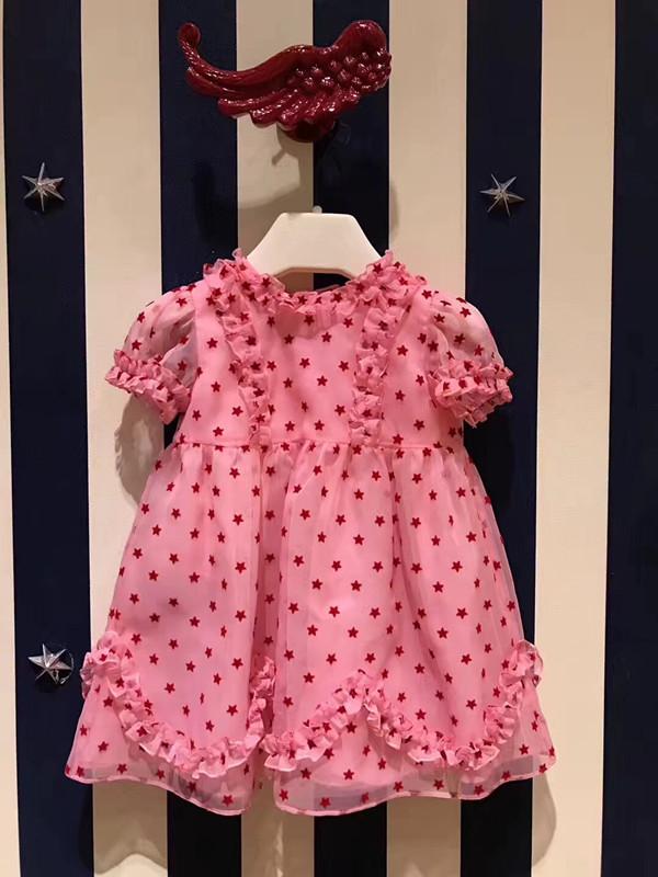女童公主裙生日粉色
