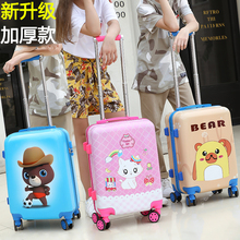 Boarding Luggage for Children, Boys and girls, Cartoon Cats, 20-inch Travel Code Suitcase for Primary and Secondary School Students