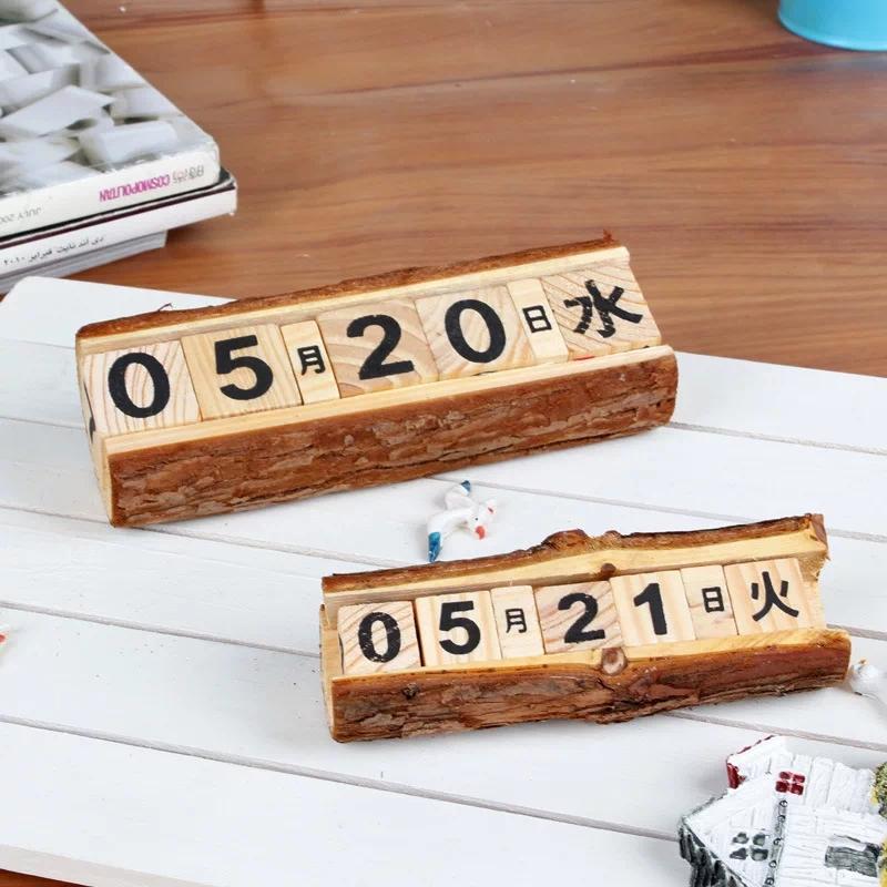 木质日历摆件