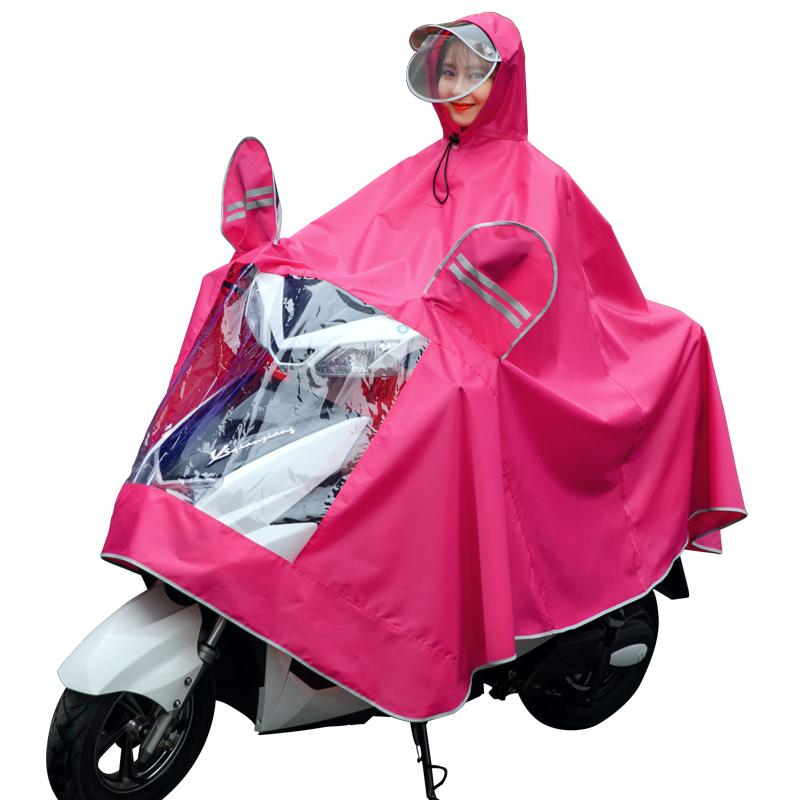 雨衣电瓶动自行车摩托车户外骑行徒步成人男女士加大加厚雨披单人