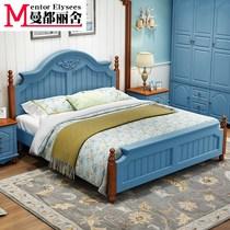 地中海风格床美式儿童房全屋床衣柜卧室成套家具组合套装男孩女孩
