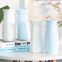 创意中式玫瑰假干花陶瓷花瓶水培现代简约小清新餐桌客厅装饰摆件