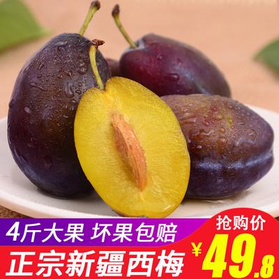 新疆喀什西梅4斤大果批发包邮甜李子新鲜水果 孕妇水果新鲜西梅