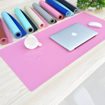 Double-sided mouse pad oversized desk pad game keyboard pad desk pad leather mat learn waterproof table pad Customization