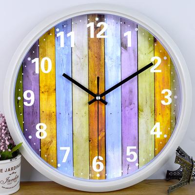 铂晨钟表时尚挂钟卧室卡通时钟圆创意挂表简约现代客厅静音石英钟排行榜