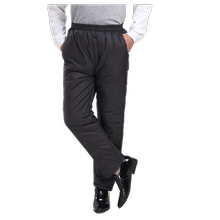 Middle-aged and old men's cotton trousers in winter with thick cotton jacket, high waist, old men's loose trousers and men's cold-proof and warm-keeping trousers outside the cold storage
