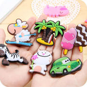 Cute animal refrigerator stickers message board magnet pvc cartoon magnetic stickers personality creative decoration set magnetic stickers