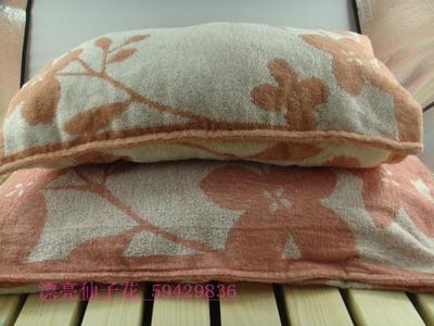 外贸原单带出口标 信封式 宝宝单人纯棉枕套 毛巾面料全棉枕套