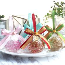 卡梅麗多 歐式透明喜糖盒子小清新圓球形婚禮韓式唯美水晶球糖盒