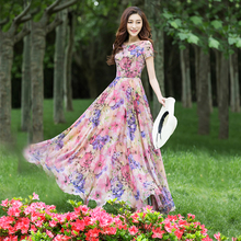 Perfume Lihua 2019 New Long Chiffon Slender and Super Long Fragmented Flower Dress Fairy Skirt
