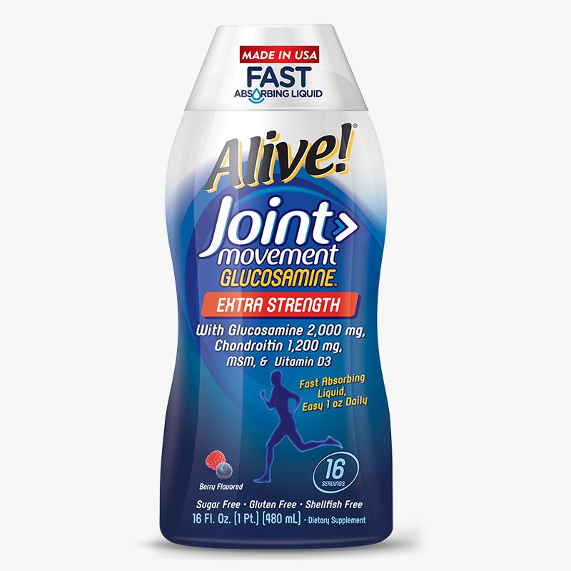 美国alive液体氨基葡萄糖维骨力软骨素 缓解关节疼痛营养液480ml