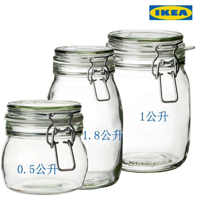 透明玻璃盖罐