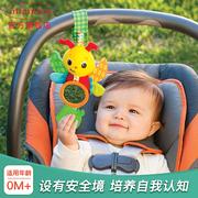 美国婴蒂诺新生宝宝婴儿安抚床铃牙胶玩具咬胶磨牙车挂