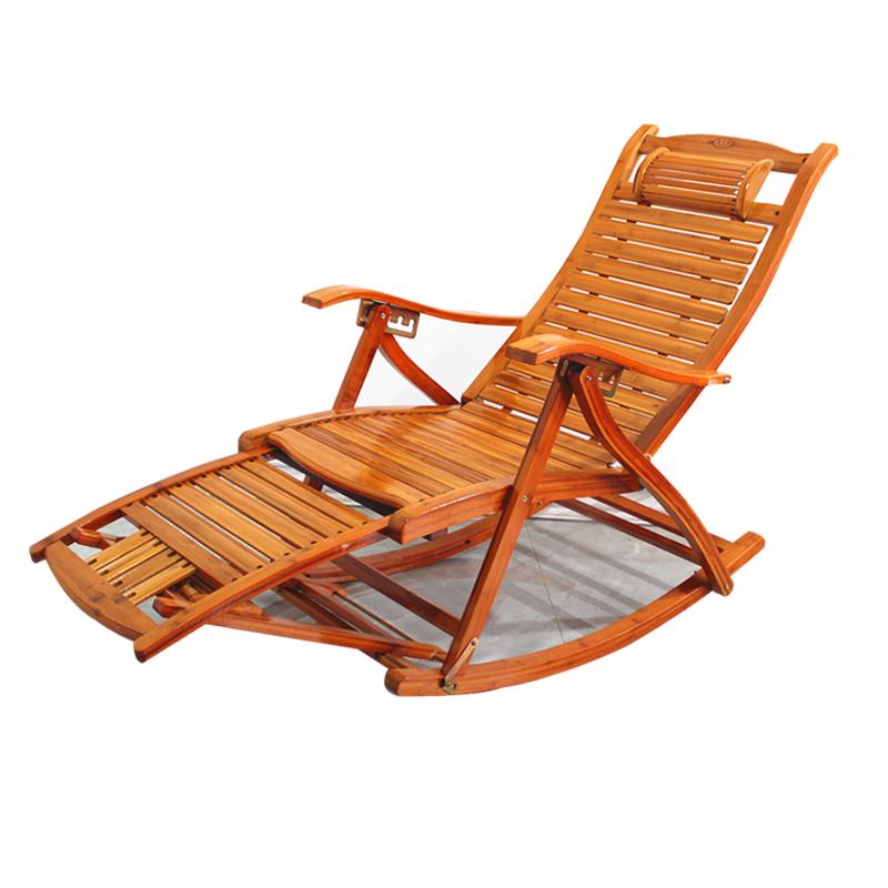 竹摇椅躺椅逍遥椅中老年椅子成人阳台家用折叠夏天休闲午睡乘凉椅