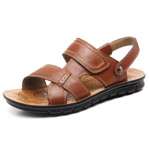 男士真皮凉拖鞋休闲鞋露趾凉鞋